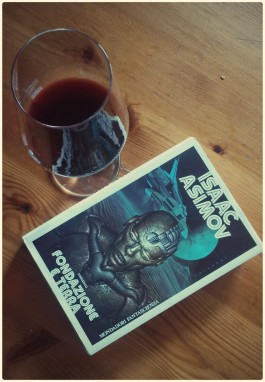 Asimov, fantascienza, vino,. italian food, wine, food and book